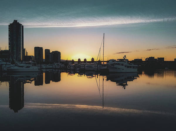 Photograph - Quayside Marina At Sunrise by Andy Konieczny