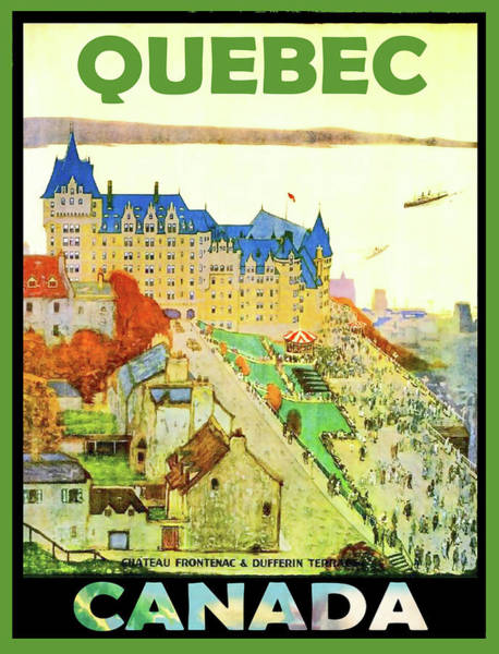 Quebec Painting - Quebec, Canada, Travel Poster by Long Shot