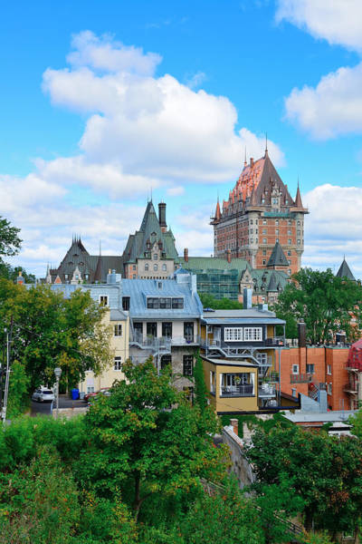 Photograph - Quebec City Cityscape  by Songquan Deng