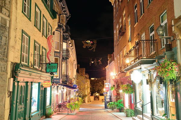 Photograph - Quebec City Street by Songquan Deng