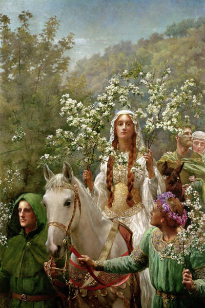 Wall Art - Painting - Queen Guinevere by John Collier