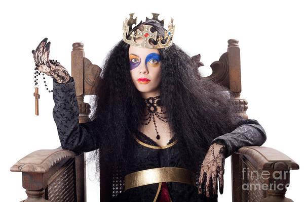 Golden Princess Photograph - Queen Holding Christian Cross by Jorgo Photography - Wall Art Gallery