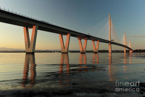 Photograph - Queensferry Crossing At Sunset by Maria Gaellman