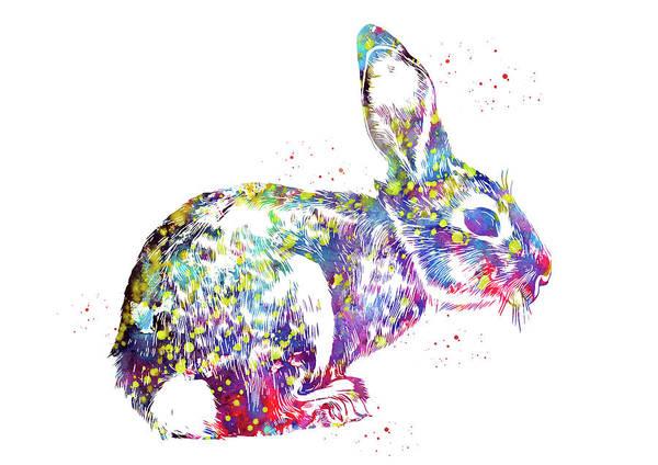 Haring Digital Art - Rabbit,the Hare by Erzebet S