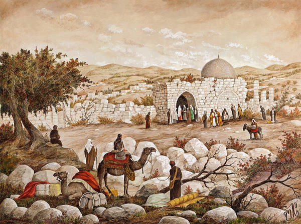 Hasidim Wall Art - Painting - Rachel's Tomb by Aryeh Weiss