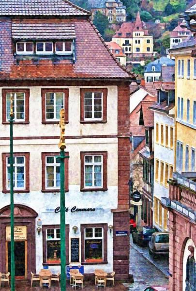 Rainy Day In Heidelberg Art Print