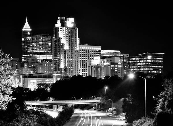 Downtown Raleigh Wall Art - Photograph - Raleigh Skyline - North Carolina by Brendan Reals