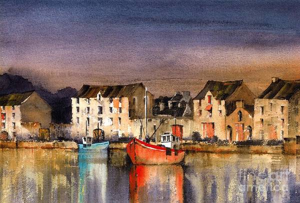 Painting - Ramelton Dusk, Donegal. by Val Byrne