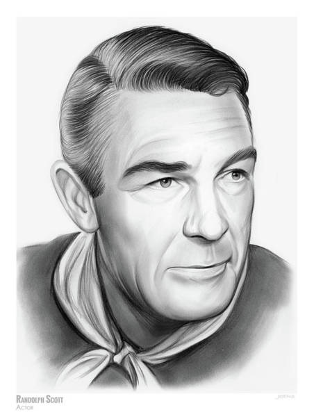 Professional Drawing - Randolph Scott by Greg Joens
