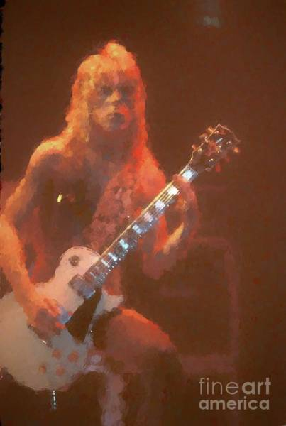 Ozzy Osbourne Wall Art - Painting - Randy Rhoads Painting by Concert Photos