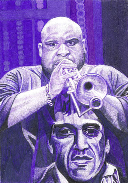 Wall Art - Drawing - Rashawn Ross by Joshua Morton