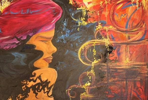 Fantasy Painting - Raspberry Beret by Vanessa Harrison