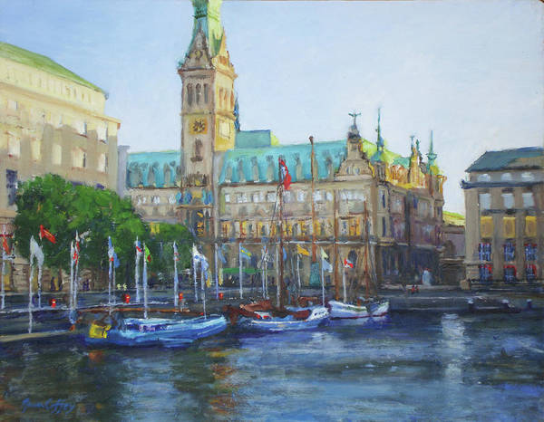 Painting - Rathaus by Joan Coffey