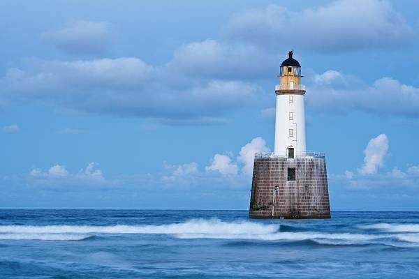 Photograph - Rattray Head Light House At Dusk by Stephen Taylor
