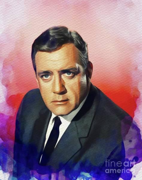 Wall Art - Painting - Raymond Burr, Vintage Actor by John Springfield