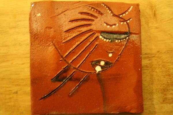 Ceramic Art - Rebecca - Tile by Gloria Ssali