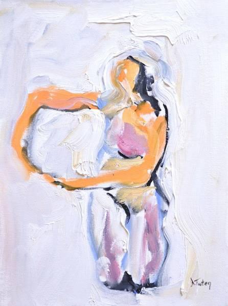 Painting - Rebekah's Dance Series 2 Pose 5 by Donna Tuten