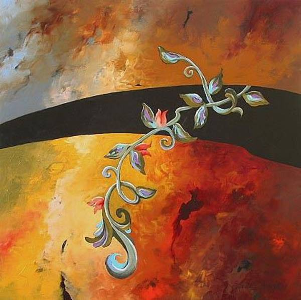 Monfort Painting - Rebirth by Linda Monfort