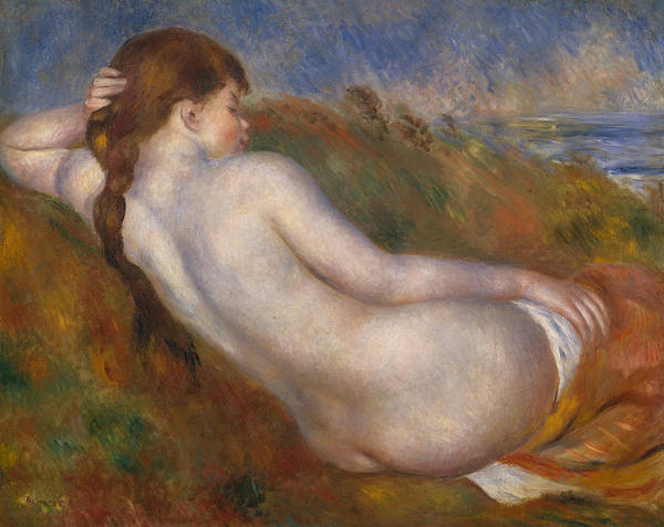 Painting - Reclining Nude by Auguste Renoir