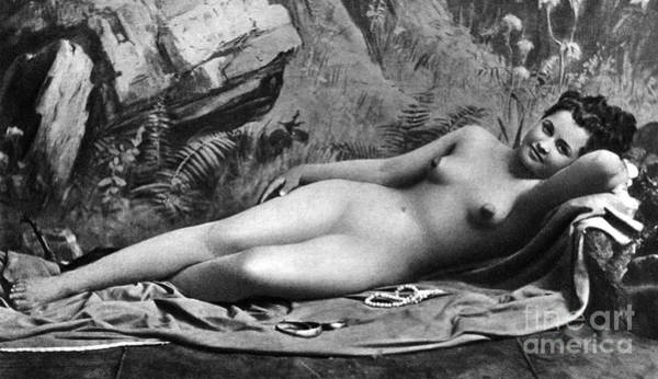 Photograph - Reclining Nude, C1885 by Granger