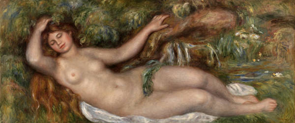 Wall Art - Painting - Reclining Nude by Pierre-Auguste Renoir