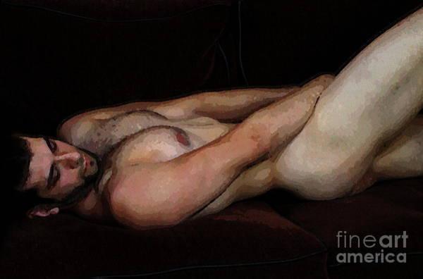 Digital Art - Reclining Nude by Robert D McBain