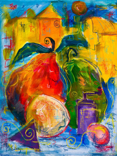 Painting - Red And Green Pears by Maxim Komissarchik