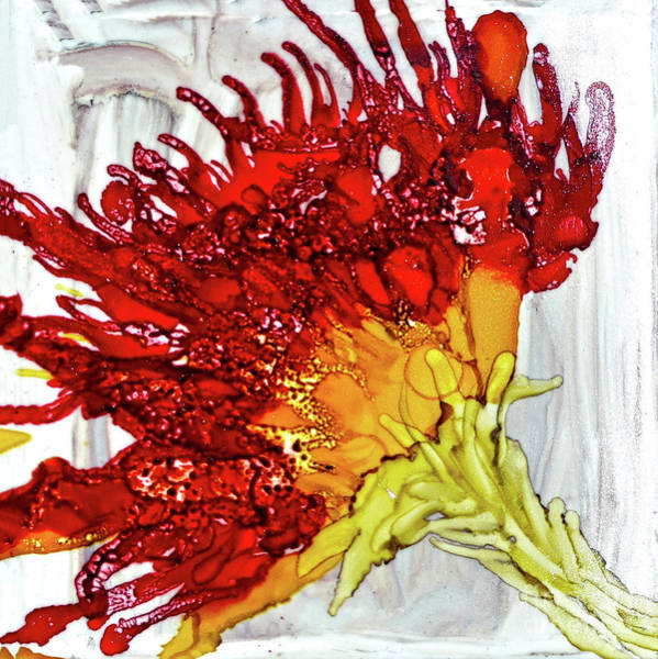 Painting - Red And Yellow Flower by Christine Dekkers