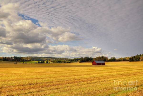 Finland Photograph - Red Barn by Veikko Suikkanen