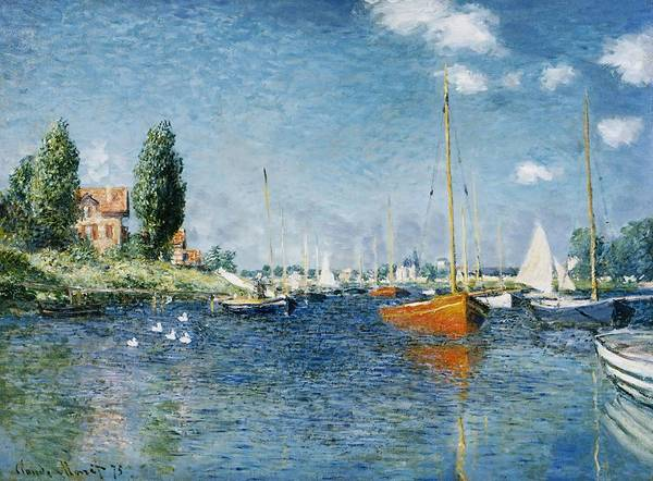 Wall Art - Painting - Red Boats, Argenteuil by Claude Monet