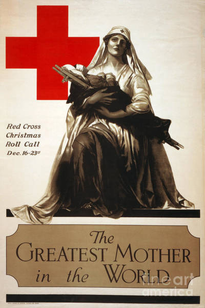 Photograph - Red Cross Poster, C1918 by Granger