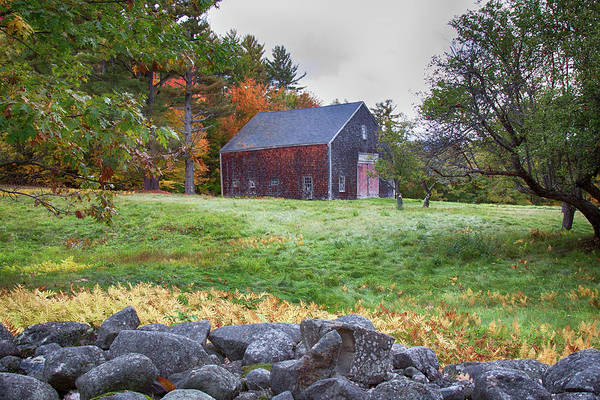 Photograph - Red Door Barn by Jeff Folger
