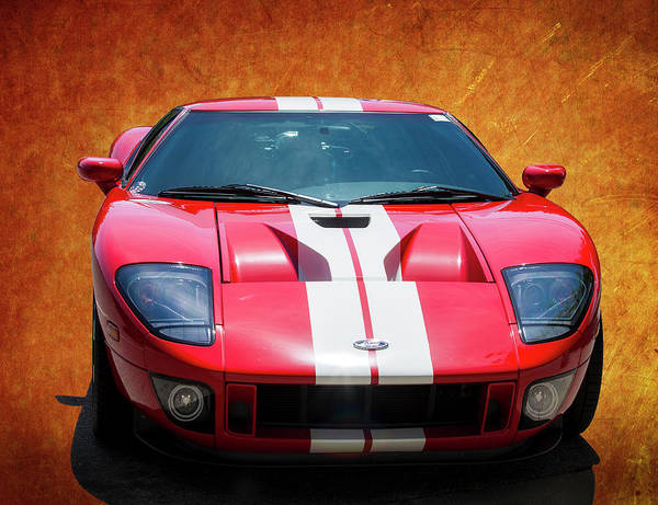 Photograph - Red Ford Gt by Gene Parks
