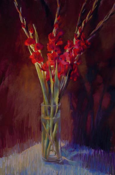 Red Gladiolus Art Print by Cathy Locke