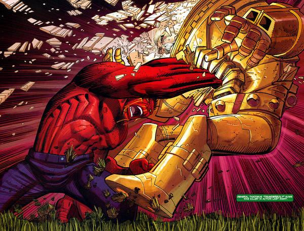 Red Digital Art - Red Hulk by Super Lovely