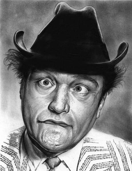 Red Drawing - Red Skelton by Greg Joens