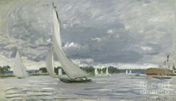 Yacht Wall Art - Painting - Regatta At Argenteuil by Claude Monet