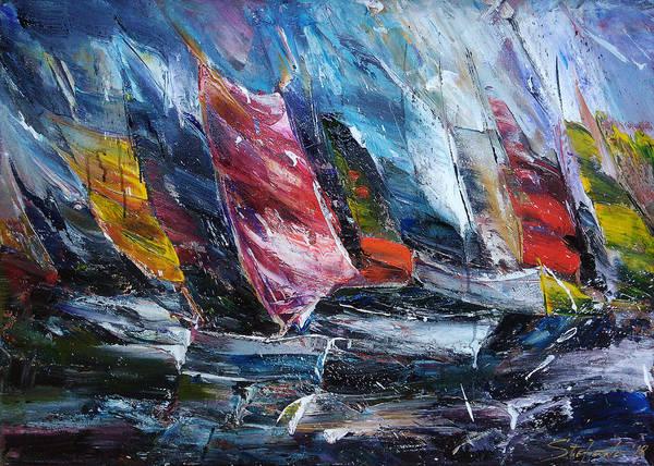 Painting - Regatta by Stefano Popovski