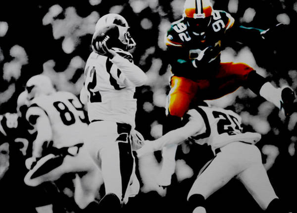 Aaron Rodgers Mixed Media - Reggie White Took Flight by Brian Reaves