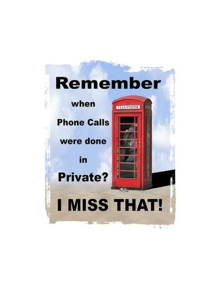 Phone Booth Photograph - Remember When . . . by Mike McGlothlen