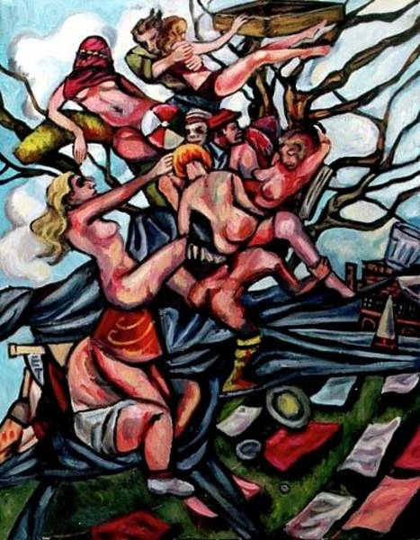 Psychosis Painting - Rent The Air by Douglas Manry