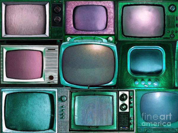 Crt Digital Art - Retro Television Marathon 20150928 V2 P138 by Wingsdomain Art and Photography