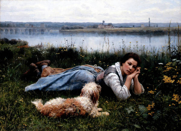 Sickle Painting - Reverie by Daniel Ridgway Knight