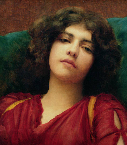 Adolescent Painting - Reverie by John William Godward