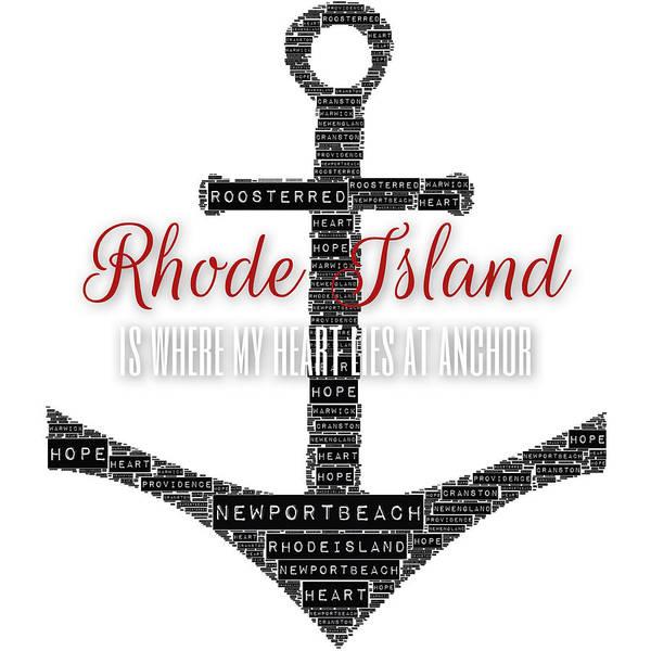 Rhode Island Digital Art - Rhode Island Anchor by Brandi Fitzgerald