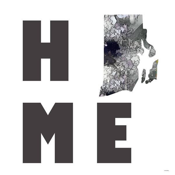 Rhode Island Digital Art - Rhode Island State Map by Marlene Watson