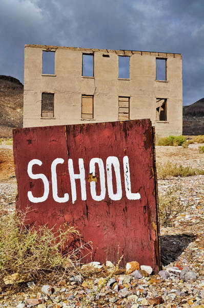 Photograph - School Rhyolite Ghost Town by Kyle Hanson