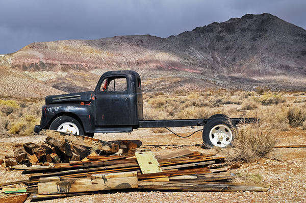 Photograph - Rhyolite Ghost Town Truck by Kyle Hanson