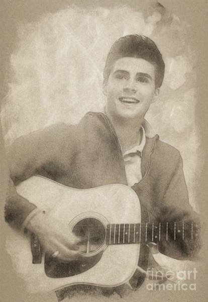 Rock Music Drawing - Ricky Nelson, Music Legend By John Springfield by John Springfield