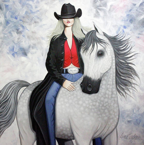Wall Art - Painting - Ridin' Red by Lance Headlee